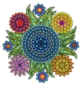Coloring Flower Mandalas, by Wendy Piersall
