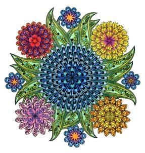 Coloring Flower Mandalas, by Wendy Piersall