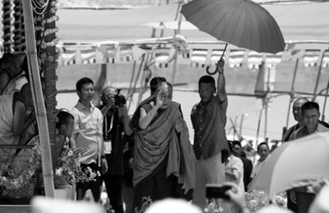 Kalachakra Initiation mit dem Dalai Lama, in Ladhak