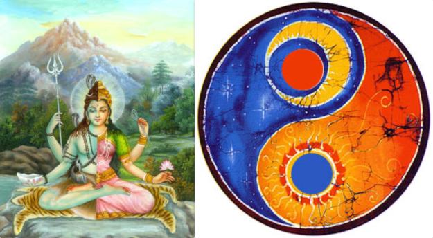 Ardhanarishvara ying yang