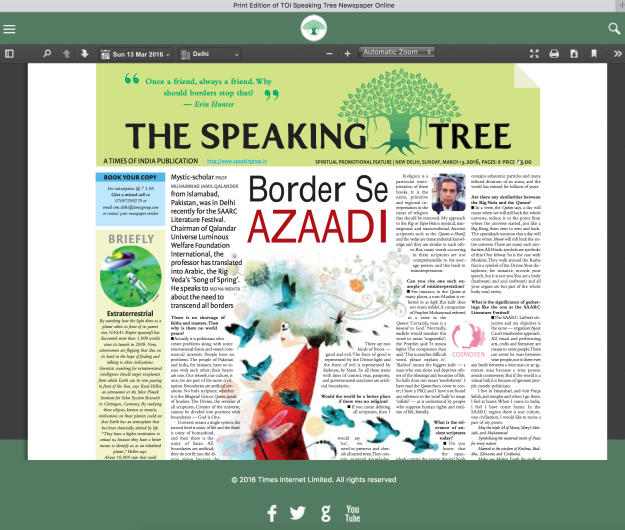speaking tree e paper