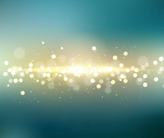 turquoise golden light